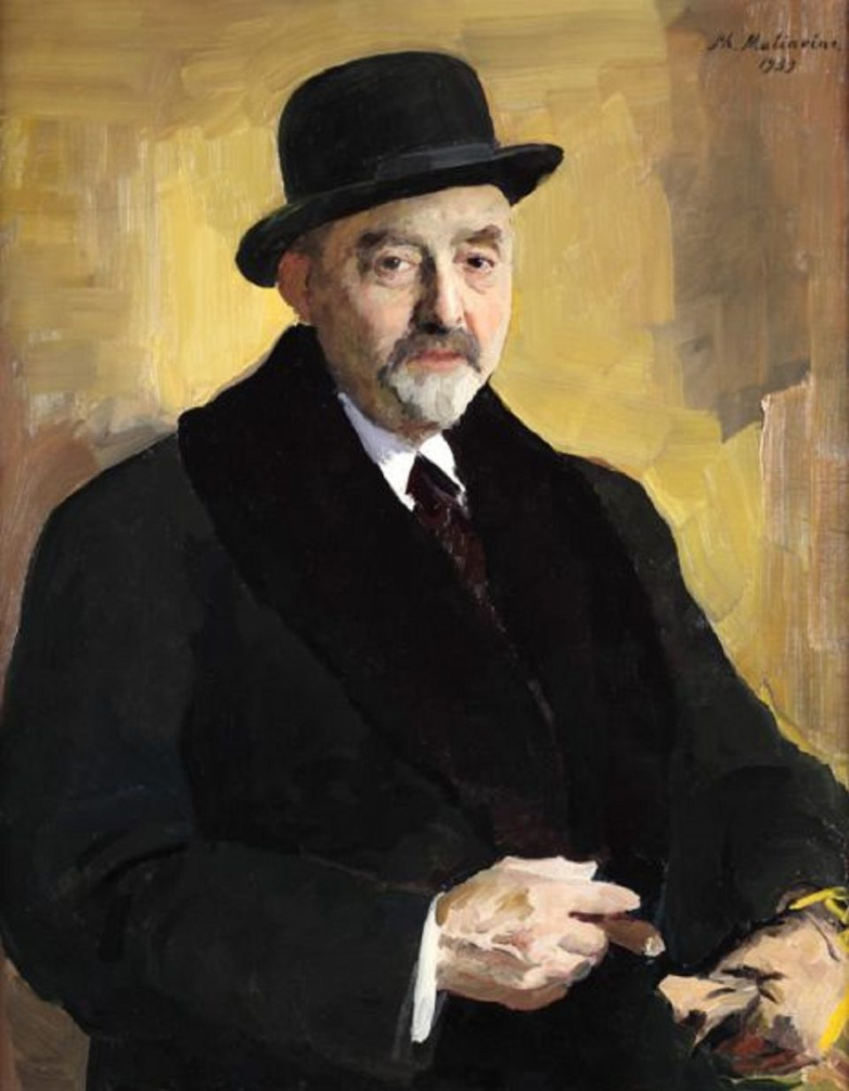 Ris.2-Portret-V.-Levi-kisti-M.-Malyavina-1939-g